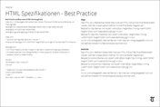Mobile - HTML Spezifikationen best practice